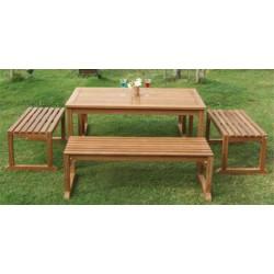 Square Garden Table Set 100x150x75 Cm JJGT 00300 S