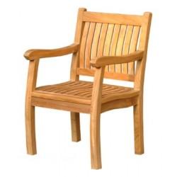 Teak garden chair empire armchair