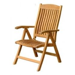 Teak chairs Edwardian 5 pos recliner armchair