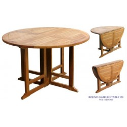 Teak gateleg table victoria gateleg 120cm round