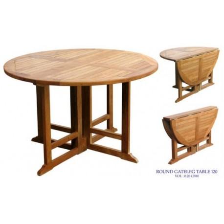 Teak gateleg table victoria gateleg 120cm round