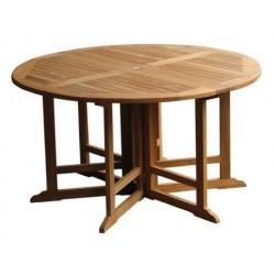 Teak garden tables victoria gateleg 150cm round