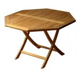 Teak folding table tables victoria easyfold 120cm octagonal