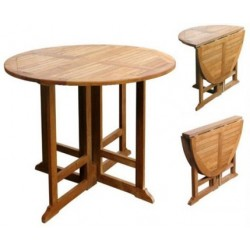 Gateleg table victoria gateleg 80cm round