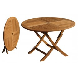 folding teak tables table victoria easyfold 120cm round