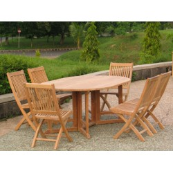 Teak patio furniture sets victoria gateleg table set