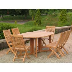 Teak patio furniture sets victoria gateleg table set