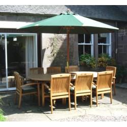 Teak patio furniture set georgian ext. table set