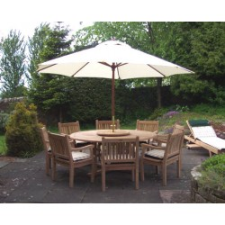 Teak outdoor dining set regency table set