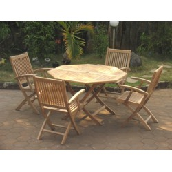 Teak garden sets victoria easyfold table set