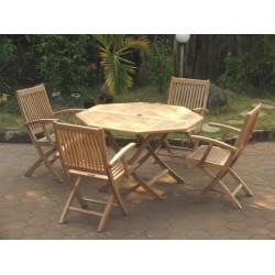 Teak garden sets victoria easyfold table set