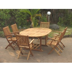 Teak set edwardian ext. table set