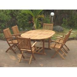 Teak set edwardian ext. table set