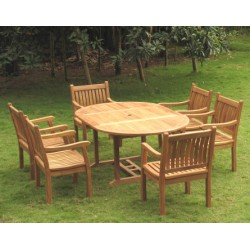 Teak garden furniture sets edwardian ext. table set
