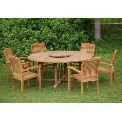 Table chairs garden regency table set