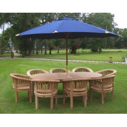 Garden table chair georgian ext. table set