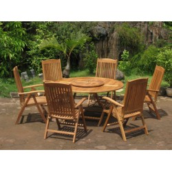 Folding table and chairs victoria 150cm easyfold set